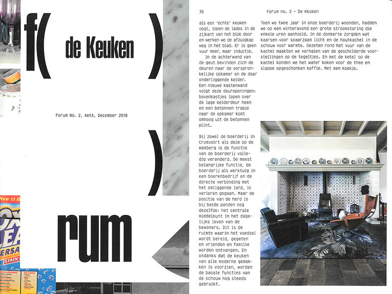 Keukencultuur in FORUM no. 2